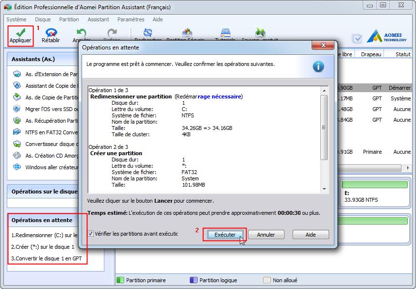 Comment convertir un disque syst me mbr en gpt sans perte - Reparer table de partition disque dur ...