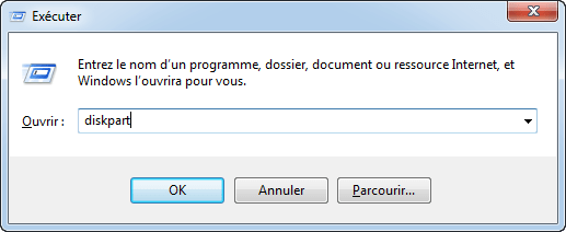 Ouvrir DiskPart