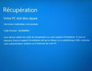 Message erreur Windows