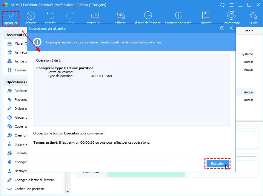 Modifier type de partition2