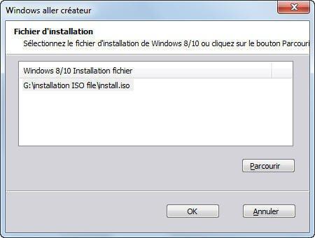 Select Windows 10/8 Installation File