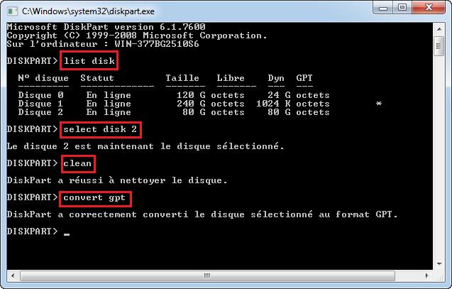 Comment changer BIOS hérité (Legacy) en UEFI dans Windows 10