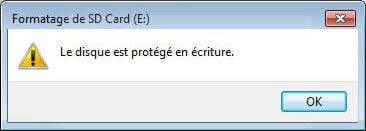 disque protégé en écriture carte sd Enlever protection en écriture carte micro SD