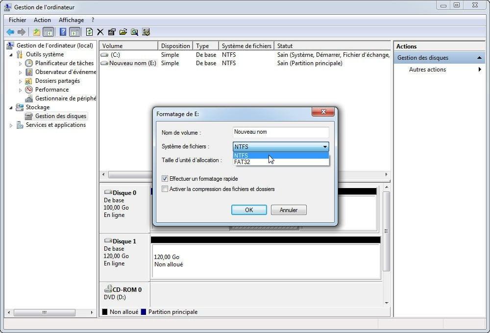 utilitaire de formatage fat32 iomega