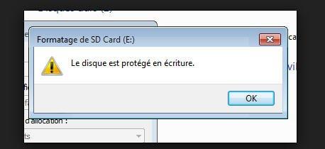 impossible formater carte sd Impossible de formater carte SD sous Windows