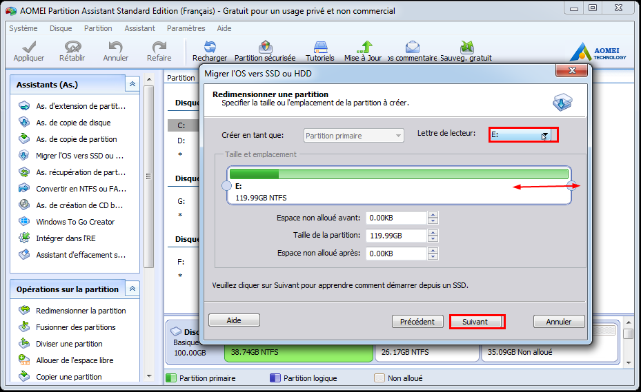 Resize Partition