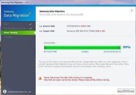 Samsung Data Migration Stuck at 99 Percent