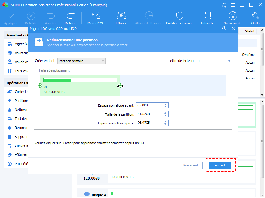 Modify SSD Partition