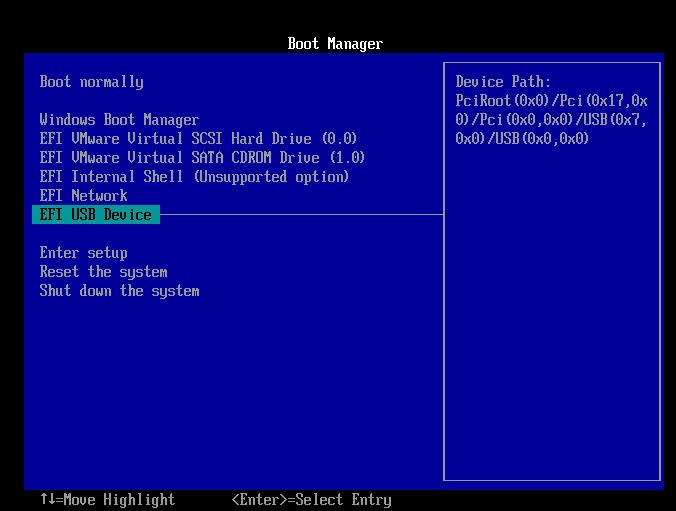 Boot from the Bootable Media