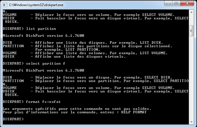 Windows 10 no exFAT option