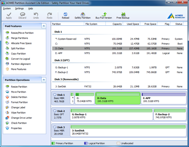 Free Partition Manager Software for Server
