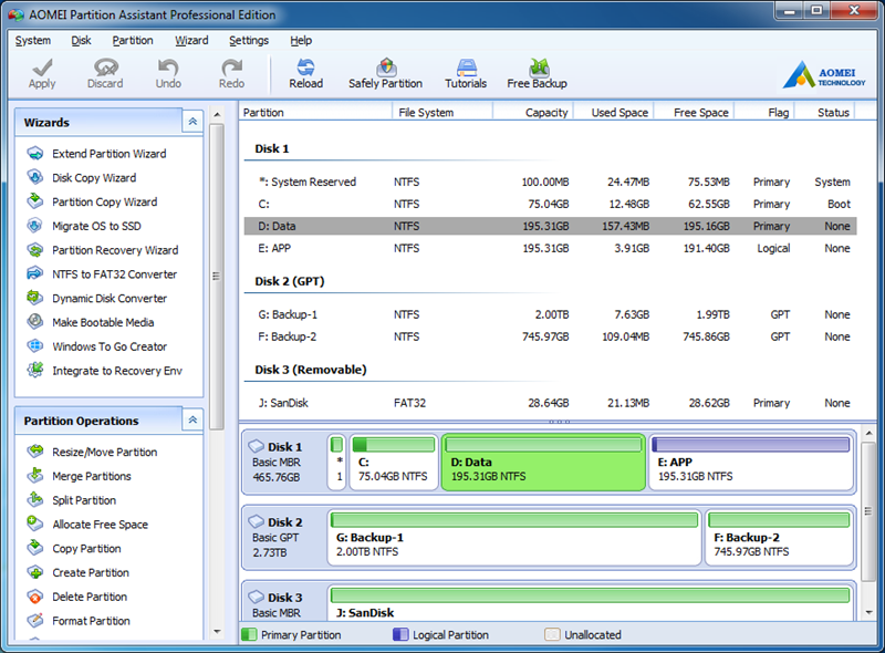 Magic Windows PC Partition Manager Software