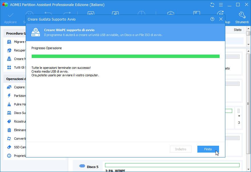 Come creare windows pe usb o cd avviabile con aomei partition assistant - Creare finestra popup ...