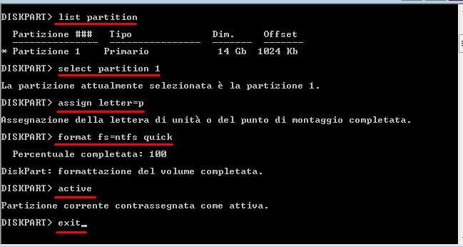 list partition