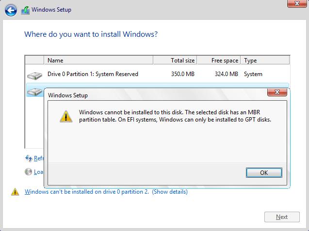 WindowsのセットアップMBR
