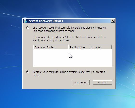 Restore Windows 7