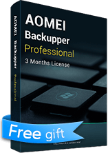 (Free Gift) AOMEI Backupper Professional 90-day Free Trial