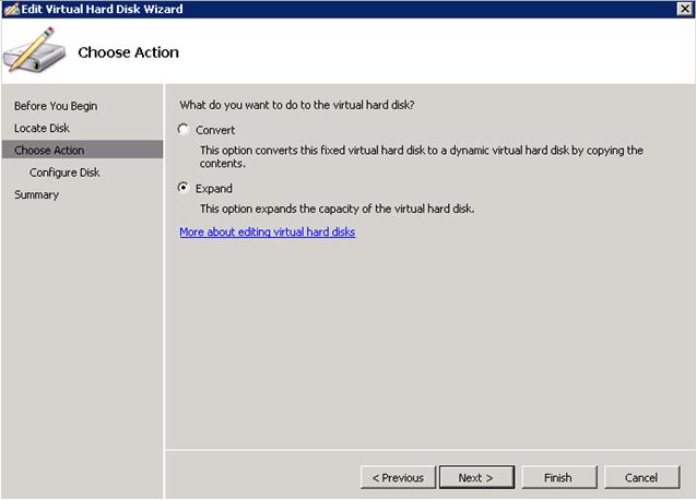 Expand Virtual Disk