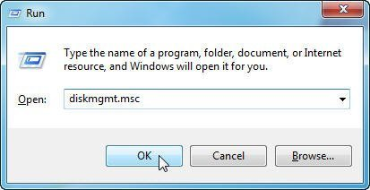 Open Windows 7 Disk Management