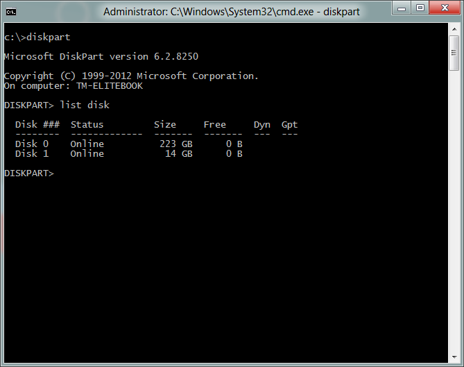 win to go command line