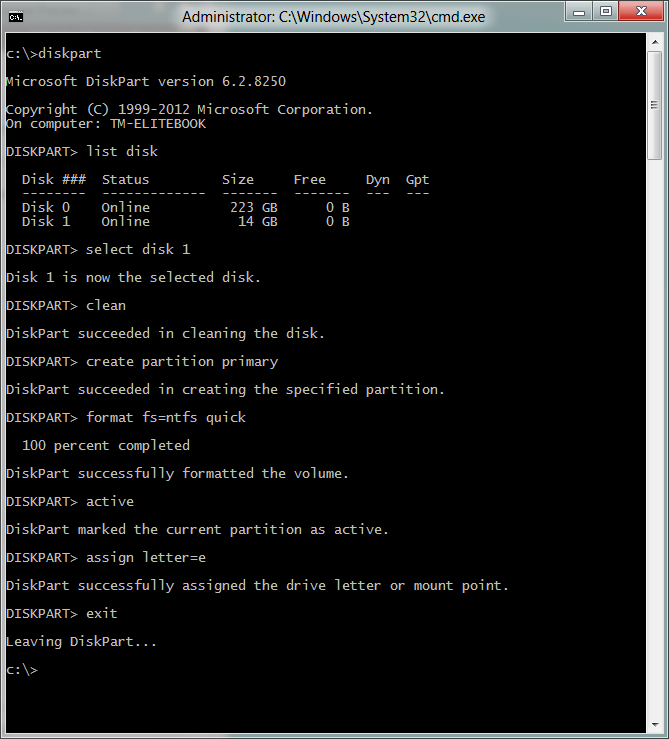 win8 to go command prompt