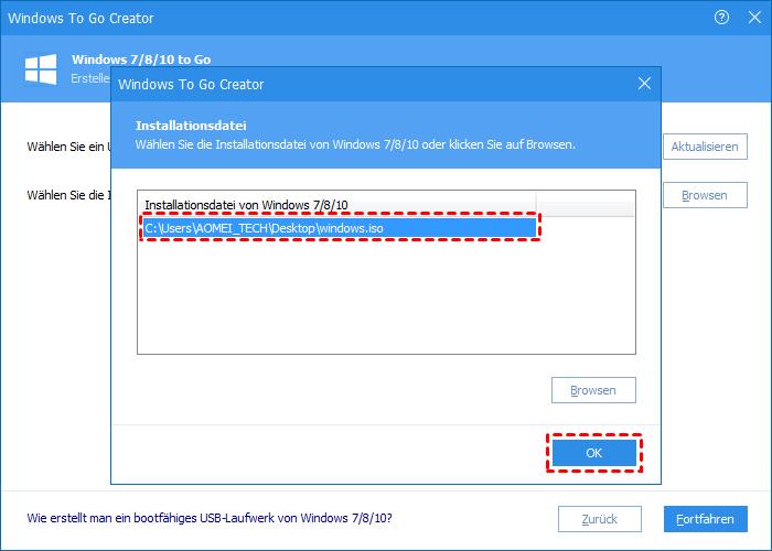 Windows-Datei wählen