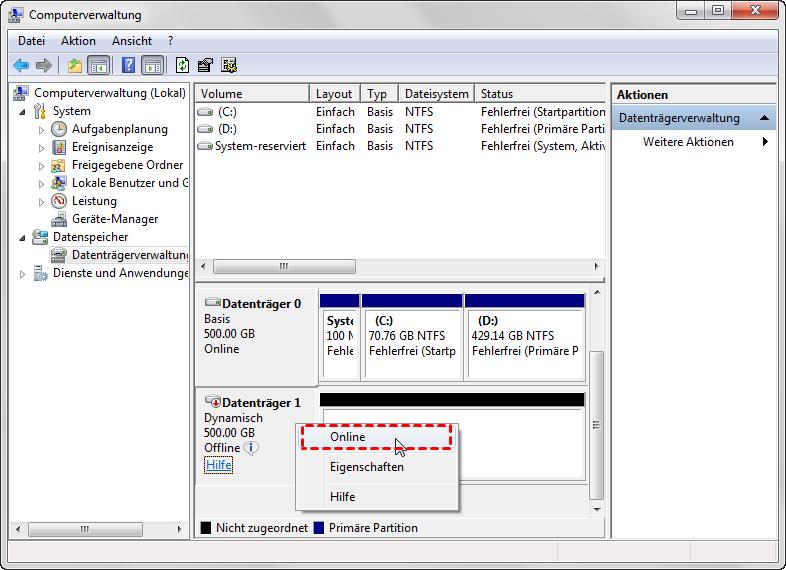 Windows Dynamischer Datenträger