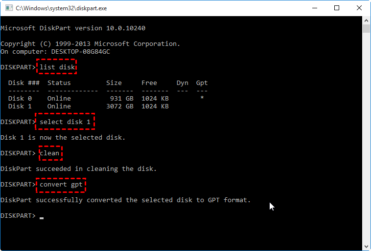 Convert Gpt Cmd Windows 10