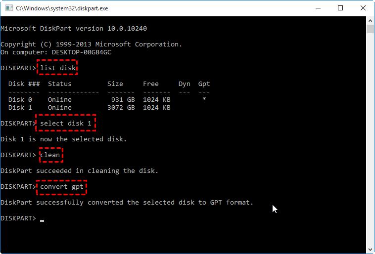 Convert Gpt Cmd Windows 10