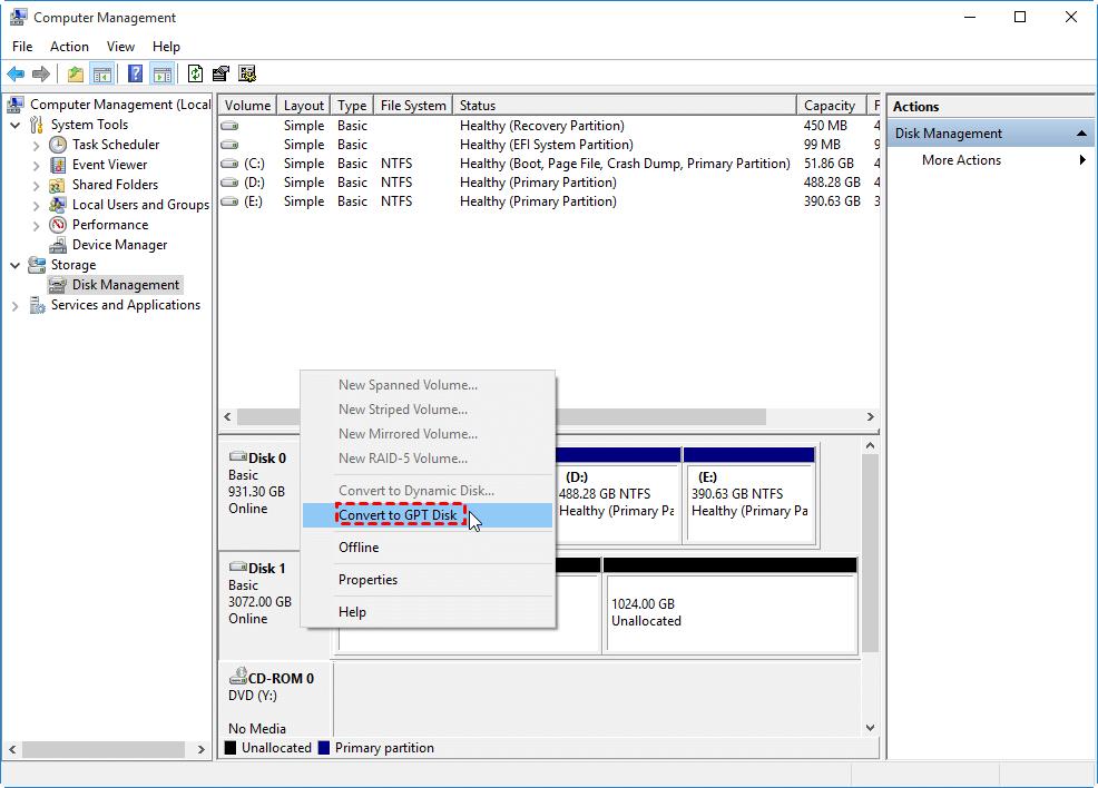 Convert To Gpt Windows 10