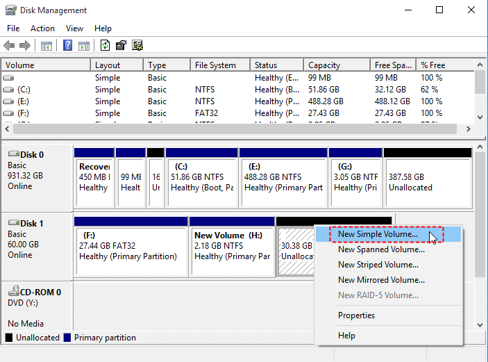 Create Primary Partition