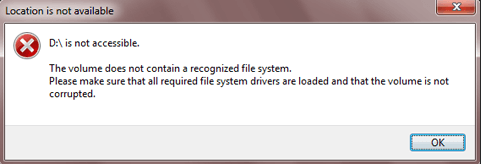 Disk Not Accessible