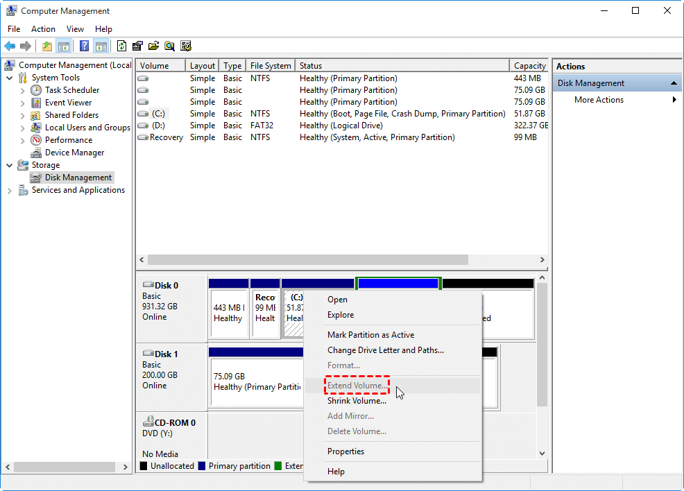 Extend C Volume Grey Out