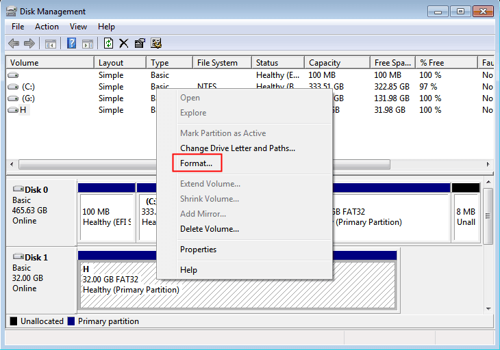 Format Disk With Dm