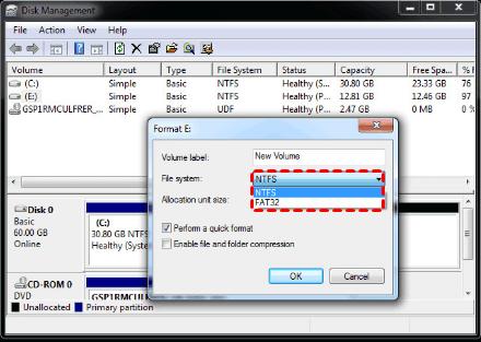 Format Ext4 Disk Management