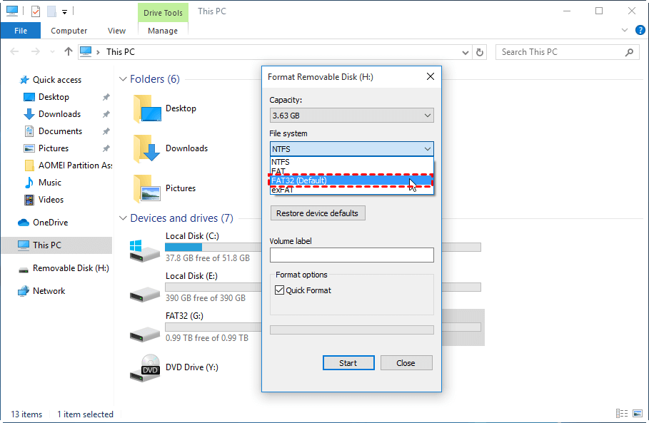 Format Partition To Fat32 File Explorer