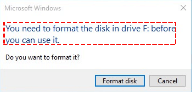 Need Format Disk