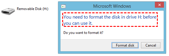 You Need Format Disk