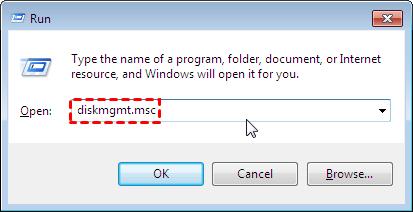 Open Disk Management Cmd