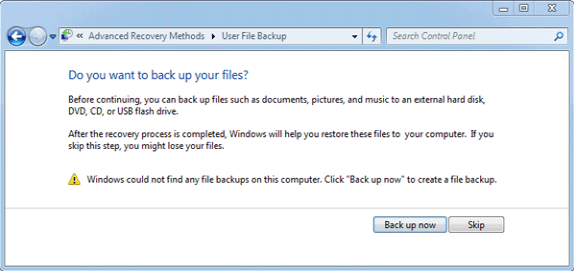 Win7 Backup Now