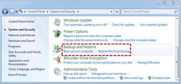 Kopia zapasowa i przywracanie systemu Windows7