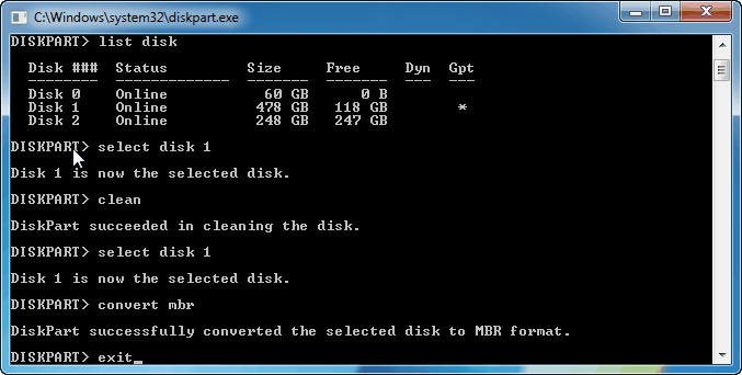 Convert To Mbr Diskpart