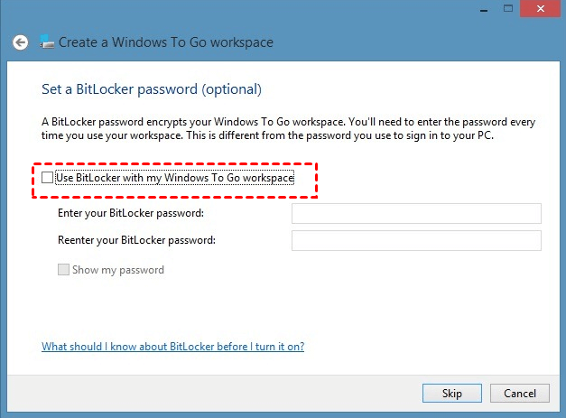 Set Bitlocker Password