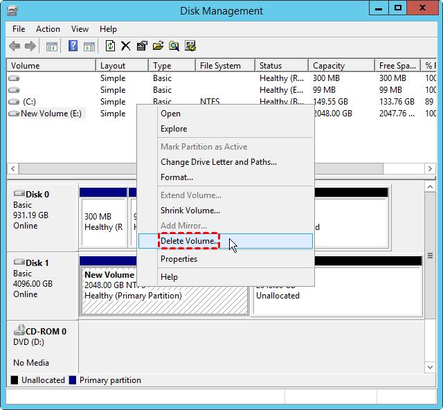 Delete Volume Server