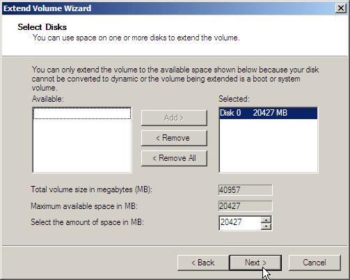 Select Disk 2008