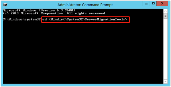 Server Migrate Tool Command