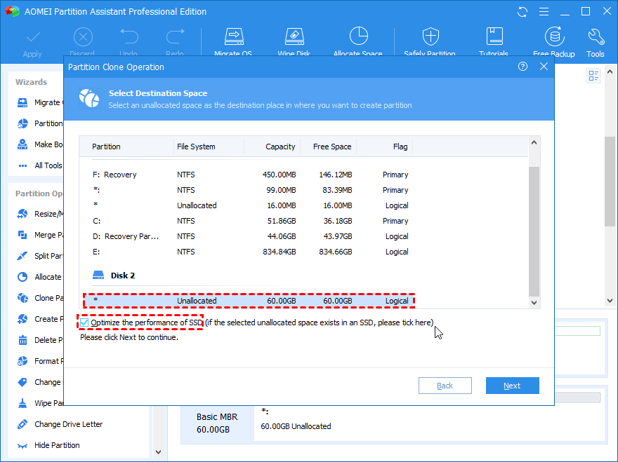 Copy Recovery Partition to SSD