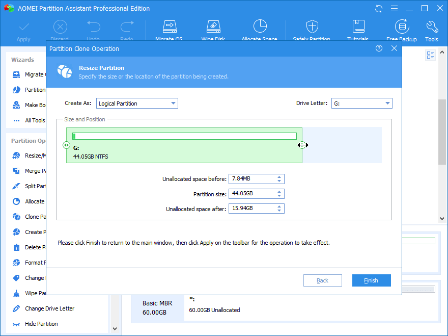 Resize Partition Recovery