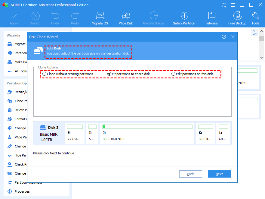 Clone System Disk Fit Partitions