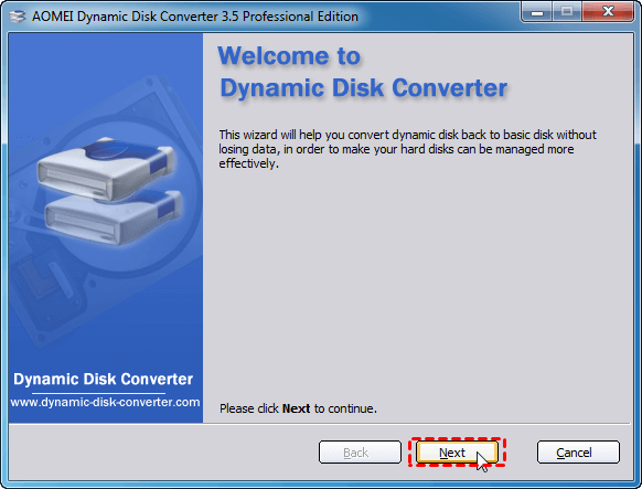 free convert dynamic disk to basic